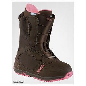 BURTON Day Spa Snowboard Boots Brown Pink